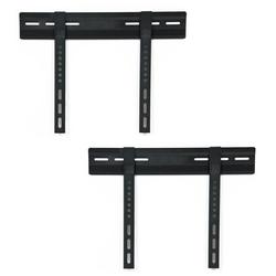 2x LCD Plasma LED TV Fernseher Wand Halterung 23-(58cm)-37-(94cm) flach schwarz