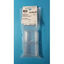 4er Set Möbeluntersetzer glasklar, quadratisch 30x30 mm