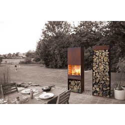 K60 Gartenfeuer Grill Kamin aus Cor-Ten Stahl