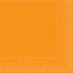 Mank Tissue Basics Servietten, 33 x 33  cm, 1/4 Falz, 3-lagig, 1 Karton = 6 x 100 Stück = 600 Servietten, curry