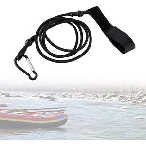 Yosoo Kajak Paddel Leine Paddelsicherung Sicherungsleine für Doppel und Stechpaddel Angelrute mit Karabinerclip zum Paddeln (97cm)