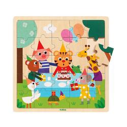 DJECO Puzzle Holz-Puzzle Puzzlo Happy, 25 Teile, Puzzleteile