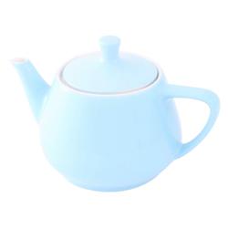 Friesland Porzellan Teekanne Friesland Teekanne 0,85l Pastellblau Utah Teapot P, 0,85 l, Made in Germany