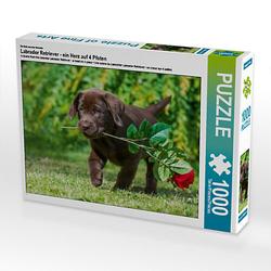 Labrador Retriever - ein Herz auf 4 Pfoten Lege-Größe 64 x 48 cm Foto-Puzzle Bild von SiSta-Tierfoto Puzzle