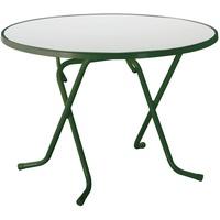 BEST Freizeitmöbel Primo Klapptisch Ø 100 x 70 cm grün
