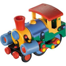 Kleine Lokomotive bunt