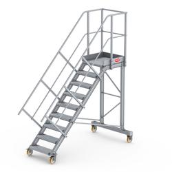 Altrex Podesttreppe fahrbar 45° 9 Stufen