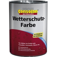 Consolan Wetterschutzfarbe Profi Holzschutz, 2,5 Liter, weiß