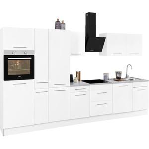 wiho Küchen Küchenzeile Ela, ohne E-Geräte, Breite 360 cm weiß