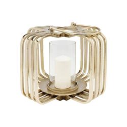 KARE Kerzenständer Windlicht Golden Cage Klein