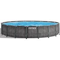 Intex Baltik Gerahmter Pool Rund Graphit