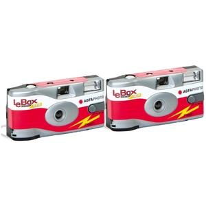 AgfaPhoto LeBox 400 27 Blitz / Flash Einwegkamera (2-er Set bis zu 54Aufnahmen)