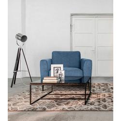 Places of Style Sessel Odda, mit Metallfüßen in besonderem Design blau