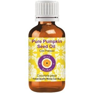 Deve Herbes reines Kürbiskernöl (Cucurbita pepo) 100% natürlicher therapeutischer Qualität kaltgepresst 10ml (0.33 oz)