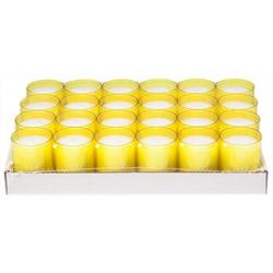 Refill Kerzen / Teelichteinsatz in Gelb, Ø50x65 mm, 24 Stück - Brenndauer ca. 24 Std.