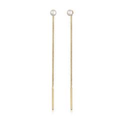 Elli Perlenohrringe Druchzieher mit Süsswasserperlen Basic 925 Silber, Ear Chain