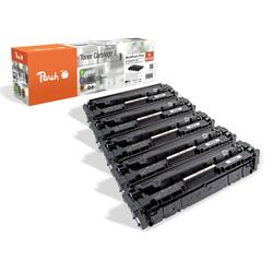 Peach Spar Pack Plus Tonermodule kompatibel zu HP No. 415X, W2030X*2, W2031X, W2032X, W2033X