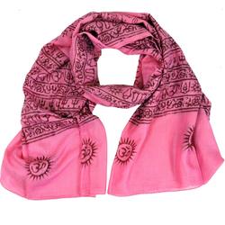 Guru-Shop Modetuch Dünnes Baba Tuch, Benares Lunghi - rosa rosa