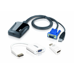 ATEN Laptop USB KVM Console Crash Cart Adapter IT Kit