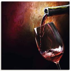 Wandbild »Wein - Rotwein«, Bilder, 79524009-0 rot 70x70 cm rot
