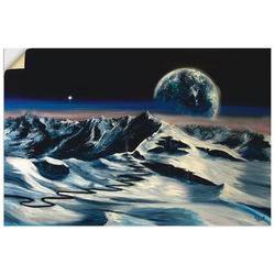 Artland Wandbild Bergwelt, Berge (1 Stück) 90 cm x 60 cm