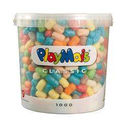 PlayMais Spielbausteine PlayMais BASIC Eimer, 1.000 Maisbausteine