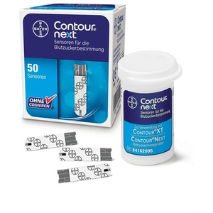 50x Bayer CONTOUR® NEXT Sensoren, Blutzuckerteststreifen Blutzucker Teststreifen
