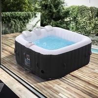 Arebos aufblasbarer Whirlpool In-Outdoor 4 Personen Spa Pool Quadratisch Massage, Heizung, Wellness - direkt vom Hersteller
