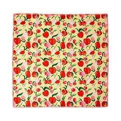 """rice Stoffserviette 2er-Set Baumwoll-Servietten """"Peach"""", 40x40cm orange"""