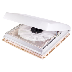 Dachhaube transparent mit Ventilator, 12 Volt