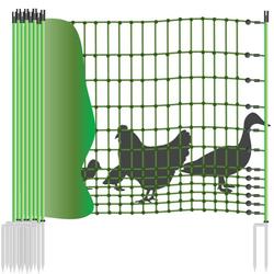Hühnernetz »Euronetz« mobiler Zaun für Hühner · 25m 2 Spitzen, 112cm