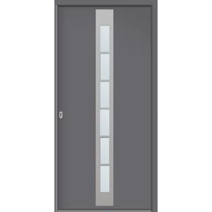 Hochwertige Energiespar Aluminium Haustür anthrazit / titan Modell JWC08 NEU