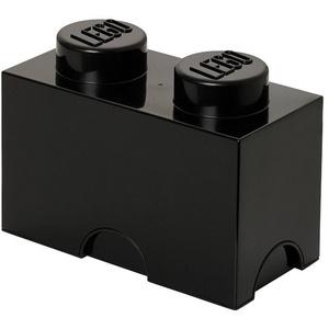 Lego Aufbewahrungsbox 2, Klein, Plastik, Schwarz, M