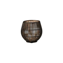 BUTLERS Teelichthalter YOKO Metall Teelichthalter Höhe 9 cm