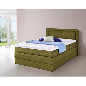 Boxspringbett, mit Bettkasten grün