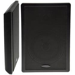 Flatpanel-Lautsprecher, 40W, schwarz Surround, 4 Ohm, 86dB, 2-Wege, Paar