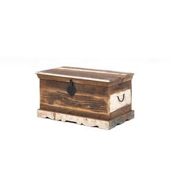 dynamic24 Truhe, Truhe massiv Holz recycelt Aufbewahrungstruhe Holztruhe Aufbewahrung Deko