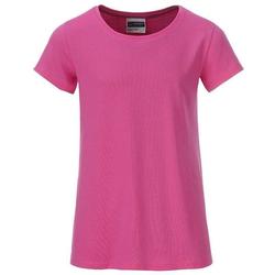 T-Shirt für Mädchen | James & Nicholson pink 110/116 (S)