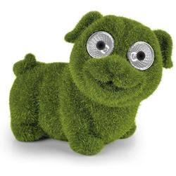 EASYmaxx Gartenfigur Solar Hund Moosoptik, LED Solar