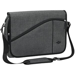 WEDO Laptoptasche Messenger Bag COLLEGE Kunstfaser grau