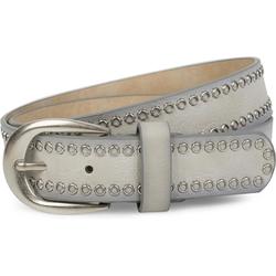 styleBREAKER Nietengürtel Gürtel mit Lochnieten Gürtel mit Lochnieten grau 95cm