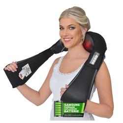 Donnerberg Nacken-Massagegerät NM-090, 7 Jahre Garantie, Akku 4D Massagegerät für Nacken, Schulter und Rücken mit Infrarotwärme und Vibration