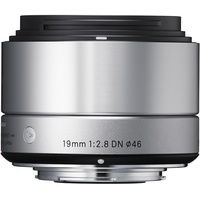 Sigma 19mm F2,8 DN (A) Micro Four Thirds  silber