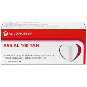 ALIUD PHARMA ASS AL 100 TAH, 100 Tabletten: zur Thrombozytenaggregationshemmung, mit Acetylsalicylsäure