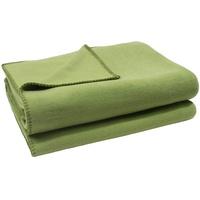 Zoeppritz Wohndecke Soft-Fleece, mit Häkeleinfassung grün