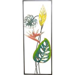 HOFMANN LIVING AND MORE Wanddekoobjekt Strelizien, Wanddekoration aus Metall, Motiv Blätter
