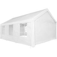 Tectake Pavillon 6,00 x 4,00 m mit Seitenteile weiß
