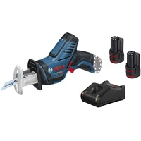 Bosch Professional Akku-Säbelsäge GSA 12V-14, mit 2 x 3,0 Ah Li-Ion Akku, L-Boxx
