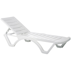CLP Gartenliege 4er Set Sonnenliege Aqua Kunststoff Rückenlehne 5-fach verstellbar
