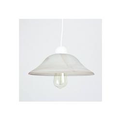 Licht-Erlebnisse Pendelleuchte ALABASTRO Pendelleuchte Weiß Glasschirm Alabaster Optik Küchenlampe Esszimmer Lampe
